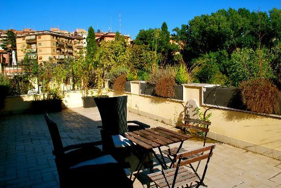 Aurelia Vatican Apartments: Our massive, private balcony