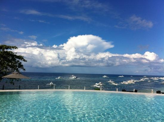 Amorita Resort: View from Saffron & the infinity pool.