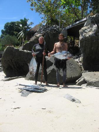 Nosy Komba Lodge: chasse sous marine