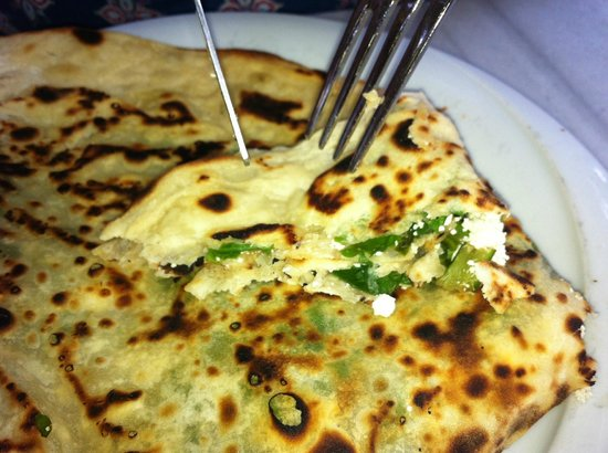 Cici Sirince Mutfagi: Pancakes filled with delicious home-made cheese with fresh chopped spinach ...