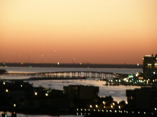 Resorts of Pelican Beach : Destin bridge from the 18th floor.