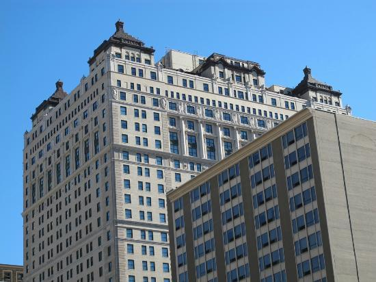 The Westin Book Cadillac Detroit: Hotel from Washington Blvd