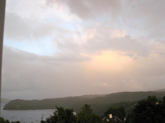 Faint but beautiful rainbow outside our room at Copeland House (August 2012).