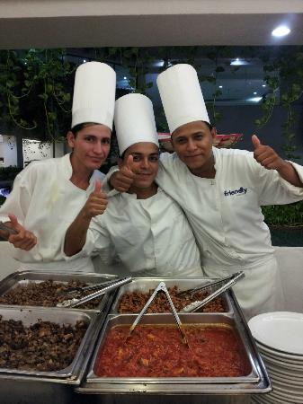 Friendly Vallarta Resort: These guys were making tacos on Mexican fiesta night