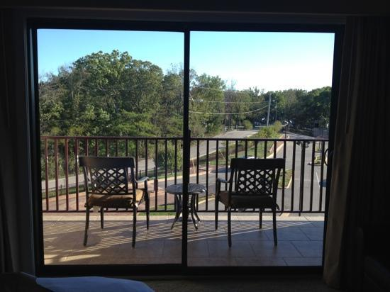 Camden on the Lake Resort: View of balcony from inside King Studio