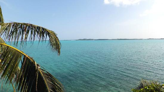 Club Peace & Plenty Exuma Island: View from our room, Stocking Island in the distance