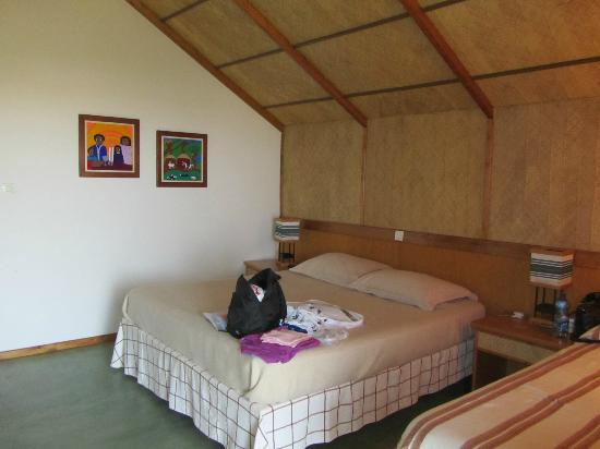 Sabana Beach Resort: Interior Design Is Simple And Fresh, Room To Sleep  Three Persons