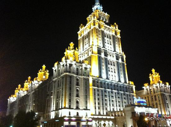 Radisson Royal Hotel Moscow : Spectacular night view