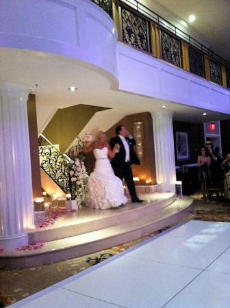 Hilton Philadelphia City Avenue: Bride and groom can be introduced from balcony and walk down staircase