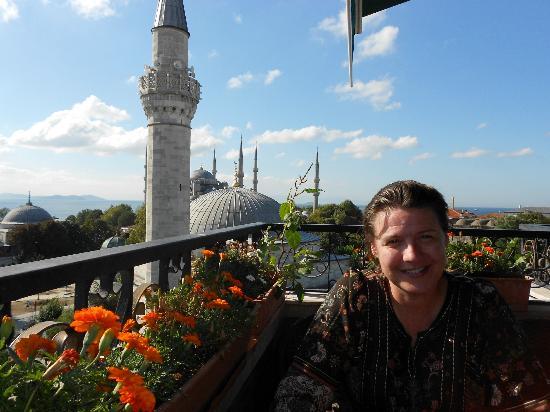 Ambassador Hotel : Breakfast amid the minarets on The Ambassador's rooftop restaurant