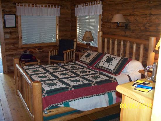 Silverwolf Log Chalet Resort: Interior Cabin View 3