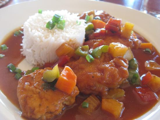 Toberua Island Resort: Main course at lunch