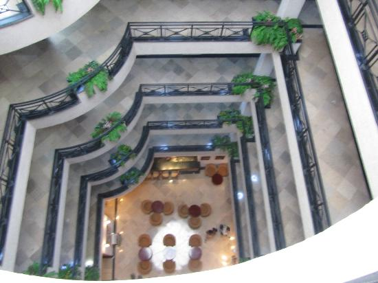 Wassamar Hotel : lobby from the 8th floor