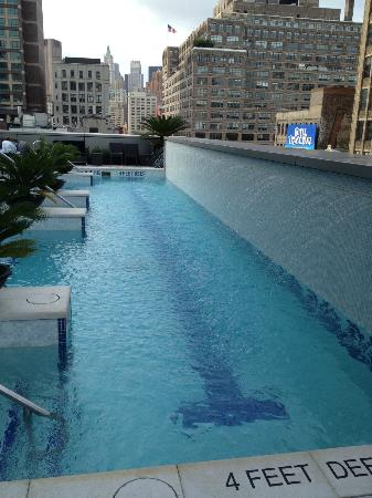 Pool From Other End Picture Of The Dominick Hotel New York City