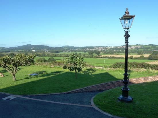 Long Mountain Bed and Breakfast: View from the patio over to Welshpool