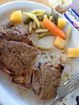 New London Seafood Restaurant: steak