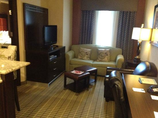 StayBridge Suites DFW Airport North: Living room