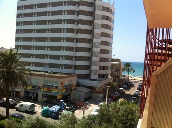 Hotel Helios Mallorca : vu de notre chambre la 317