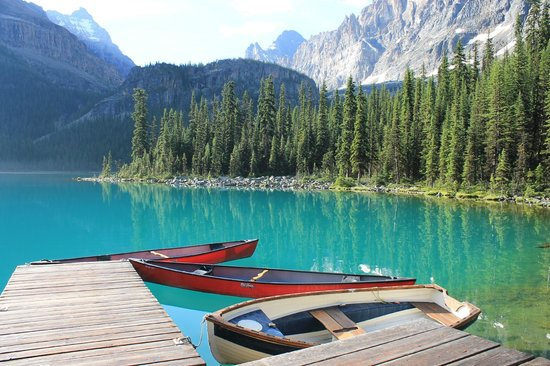 Yoho National Park, Kanada: Morning Colours on Lake O'Hara