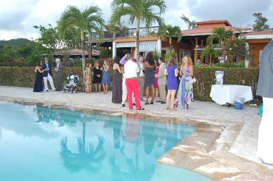 Carambola Restaurant: View from the pool where we had the reception after wedding where they served drinks and appetiz