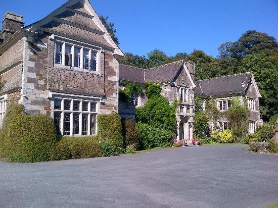Lewtrenchard Manor, view from carpark