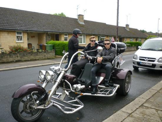Razorcat Tours: Paddy and Sam about to start their Razor Cat tour