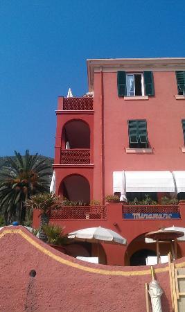 Hotel Riviera Miramare: Vom Strand her...