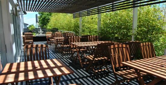Hotel Castilla: Area de terraza