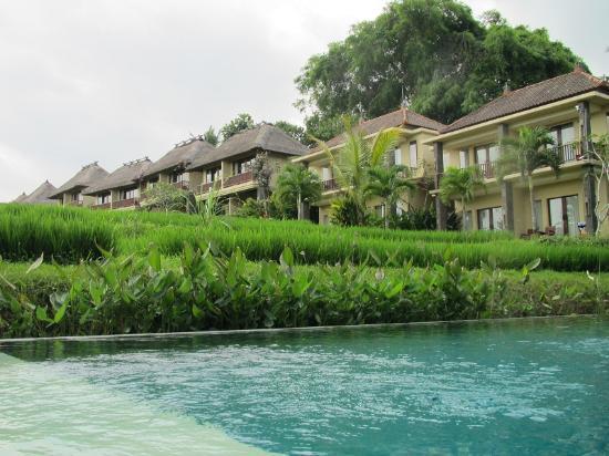 Biyukukung Suites and Spa: vanaf het grote zwembad