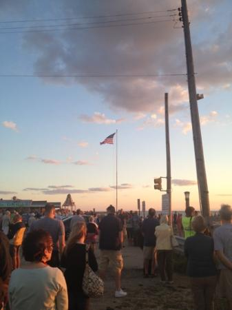 Sunset Beach: flag ceremony