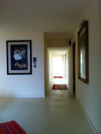 La Viuda de Jose Ignacio: Upstairs corridor with original artwork