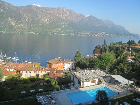 Hotel Belvedere Bellagio: View of hotel pool and Lake Como from room