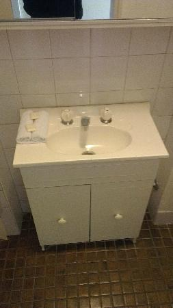 AMG Motel & Serviced Apartments: older bathroom, but clean