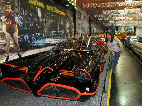 Volo Auto Museum: Batmobile lost it's wheel and the Joker got away
