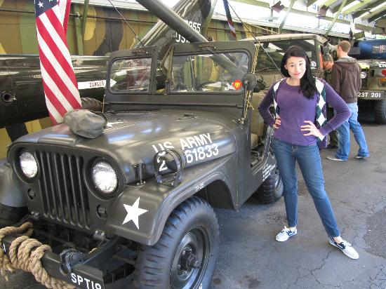 Volo Auto Museum: Lovely young women like military Jeeps