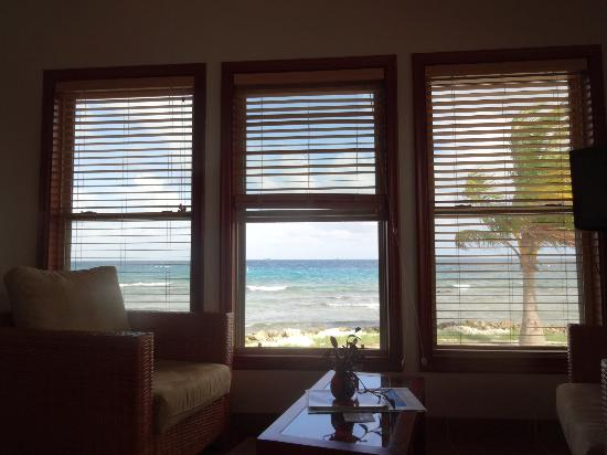 Hatchet Caye Resort: view in the room