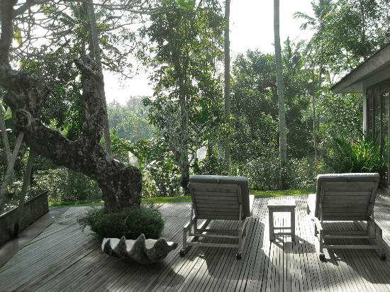 Chapung SeBali Resort and Spa: Private villa deck view