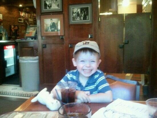 Diamond Lil's:                   my kid enjoying some calamari and a cherry coke
