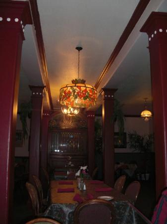 Decor inside Angela's Restaurant