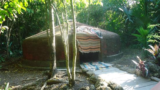 Temazcal - Mayan Steam Lodge: The sweat lodge after we came out