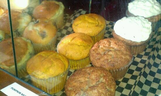 Little Red Caboose Cafe : Blueberry, Pumpkin, Carrot-cake muffins. Made from scratch & oh so delicious!