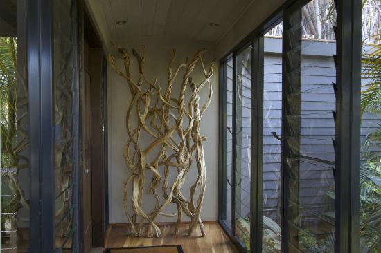 Pretty Beach House: entrance to treetop