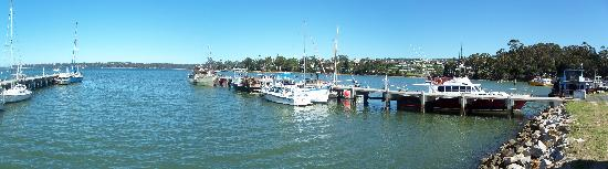Queechy Cottages : St Helens - Panorama of Marina