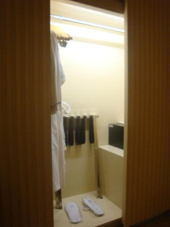 The Bauhinia Hotel - Central: Bauhinia Central: Luggage Rack & In-Room Safe inside Wardrobe