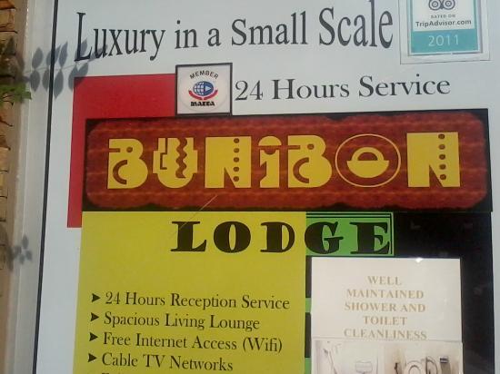 Bunibon Lodge: entrance