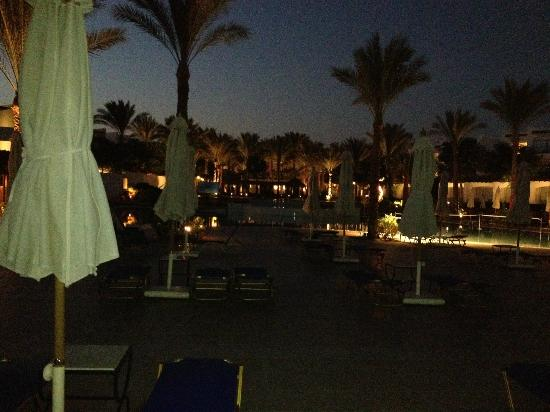 Jaz Fanara Resort & Residence: night time round the pool