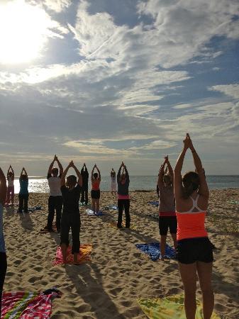 Chatham Lighthouse Beach Yoga: sun salutation