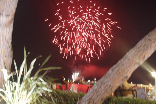 Hotel La Residence de la Pinede: more fireworks