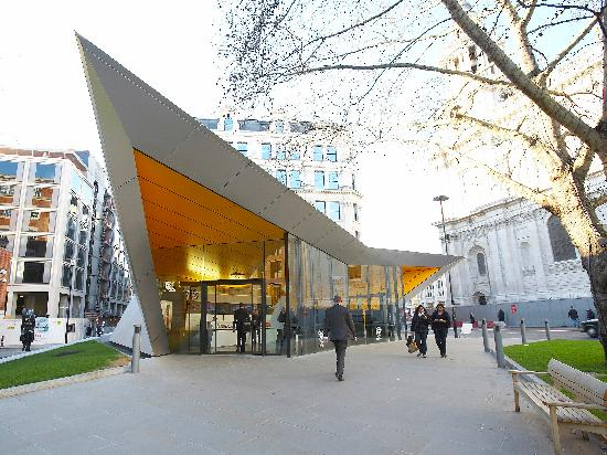 City of London Information Centre: The centre with St Paul's Cathedral in the background