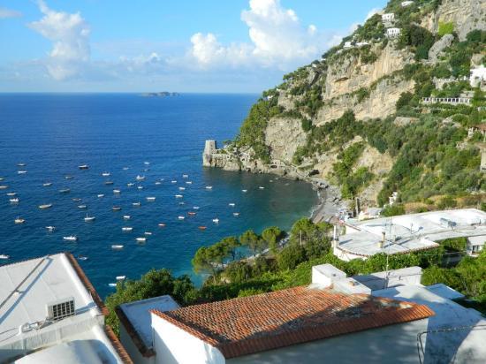 Hotel Montemare: vista desde el desayunador terraza 